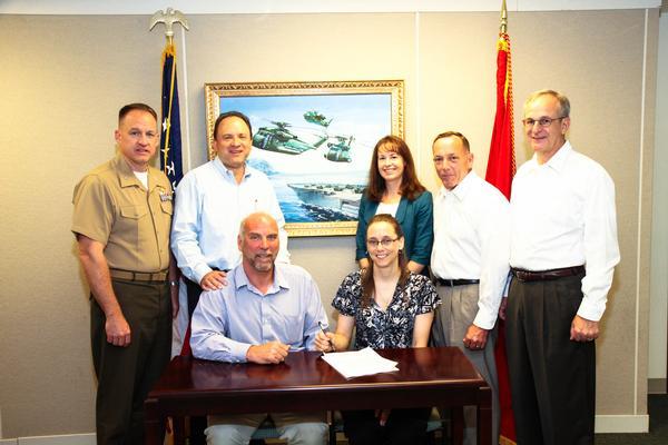 NAVAIR CH-53K and Sikorsky program representatives