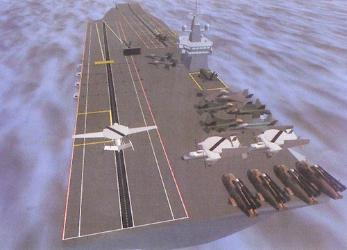 Illustration of the Royal Navy's Queen Elizabeth-class aircraft carrier