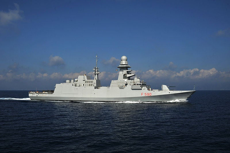 Italian Navy's first FREMM frigate