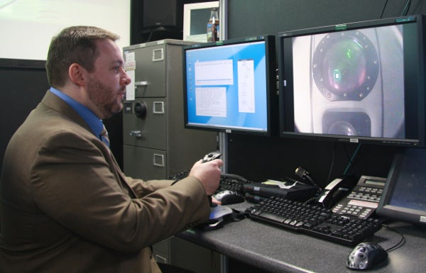 official demonstrates control of a payload sensor
