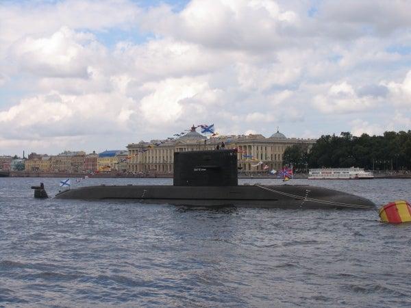 Russian Navy's Lada-class lead submarine, Sankt-Peterburg (B-585)