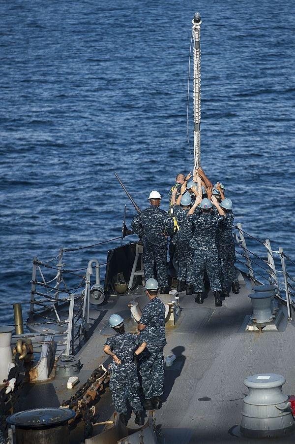 ailors aboard USS McCampbell (DDG 85)