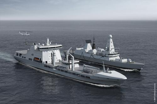 Royal Navy's military afloat reach and sustainability tankers