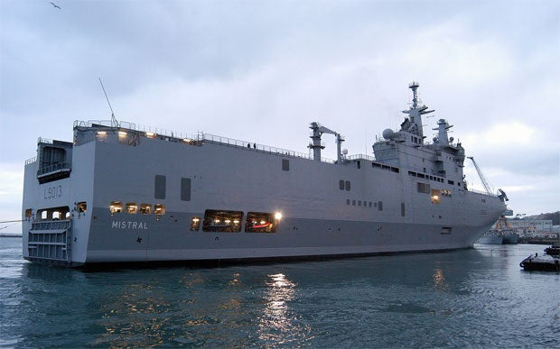 Mistral-class warship