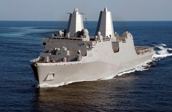 US Navy's amphibious transport dock Anchorage (LPD 23)