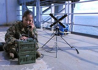 PRC-117 radio and SATCOM antenna