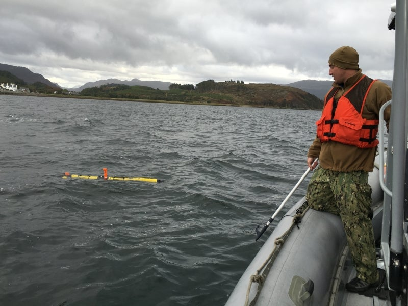 Iver3-AUV plays role in unmanned warrior 2016