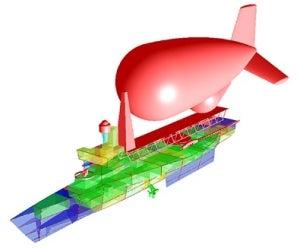 AEW aerostat tender trimaran