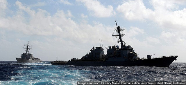 USS Paul Hamilton and USS Chung Hoon Arleigh Burke Class destroyers
