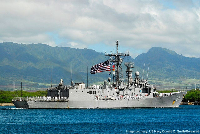 USS Reuben James FFG 57 Oliver Hazard Perry Class frigate
