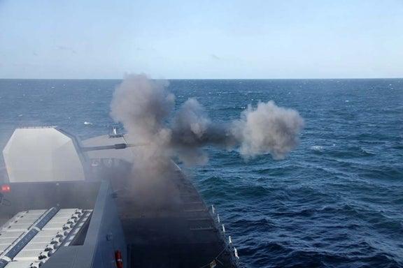 UK Royal Navy's fourth of six Type 45 anti-air warfare destroyers, HMS Dragon