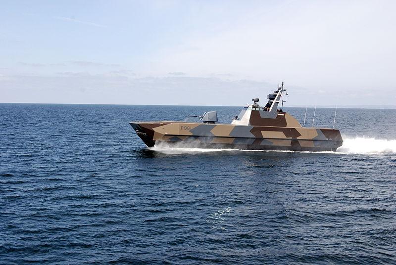 Norwegian Navy's Skjold-class fast patrol boat (FPB), P964-Glimt