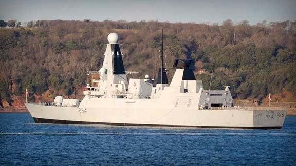 HMS Diamond_type 45 destroyer