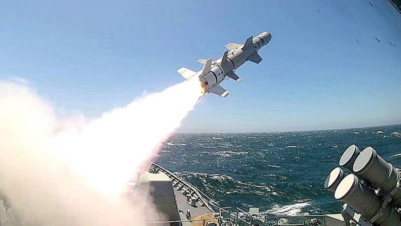 Harpoon missile_HMAS Perth