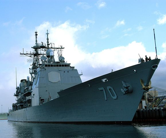 USS_Lake_Erie_in_port