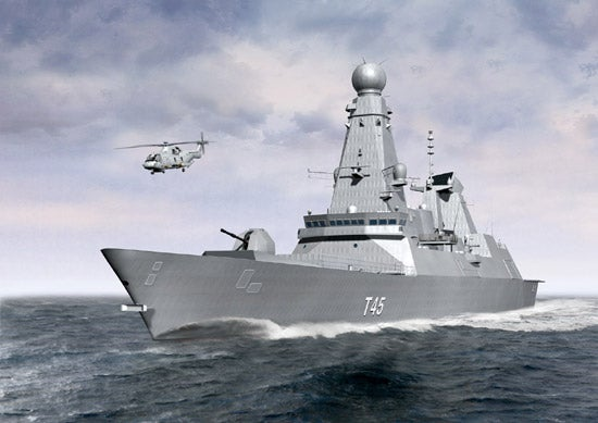 UK Royal Navy's first Type 45-class destroyer HMS Daring