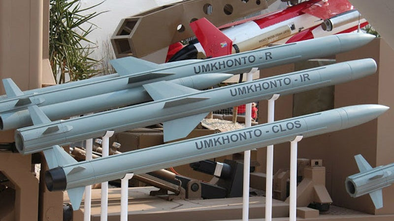 Umkonto surface-to-air missiles made operational