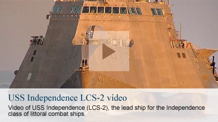 USS Independence LCS2 - Littoral Combat Ship Video