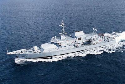 Irish Navy's offshore patrol vessel (OPV).
