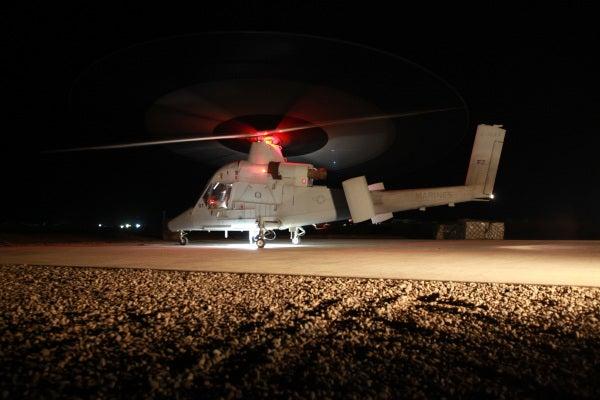 K-MAX unmanned aerial cargo hauler