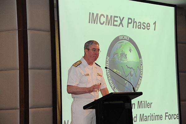 US Naval Forces Central Command Commander Vice Admiral John Miller duringphase 1 of IMCMEX 2012