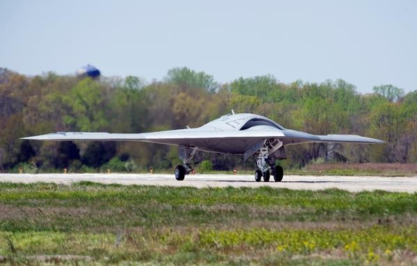 US Navy's X-47B unmanned air vehicle
