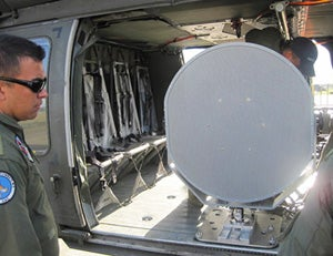 UH-60 helicopter with LRAD 1000X