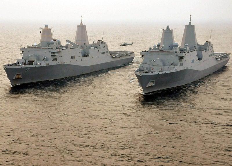 USS New York and USS San Antonio