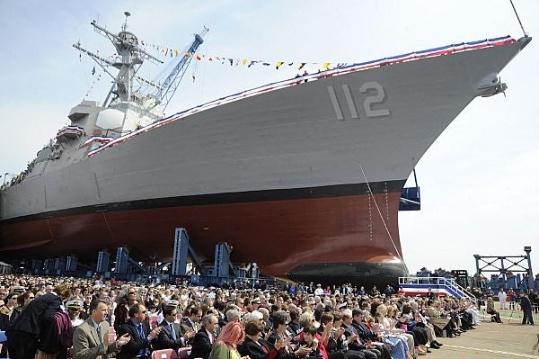 The US Navy's Arleigh Burke-class guided-missile destroyer, USS Michael Murphy (DDG 112)