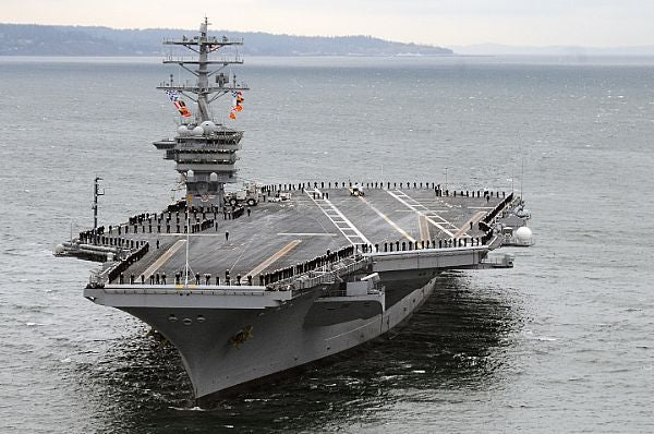 The US Navy's Nimitz-class aircraft carrier USS Nimitz (CVN 68)